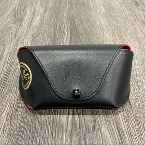 Ray-Ban Authentic Black & Red Glasses Button Case